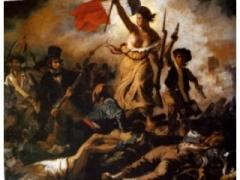 Eugene Delacroix La Libertà che guida il popolo 1830 particolare Louvre Parigi.JPG