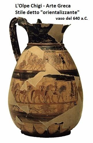L arte dell antica grecia e l influsso orientalizzante l for Vasi antica grecia