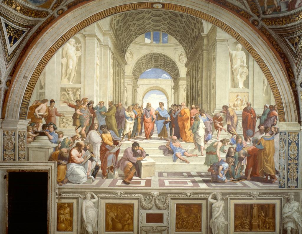 La scuola di atene opera meravigliosa del grande artista - Giulio iacchetti interno italiano ...