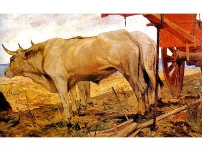 Giovanni Fattori Il carro rosso 1887 macchiaioli particolare.JPG