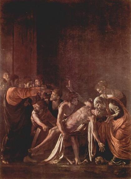 Caravaggio La resurrezione di Lazzaro 1609.jpg