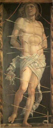 san sebastiano,andrea mantegna,pittura del quattrocento,arte del quattrocento,louvre