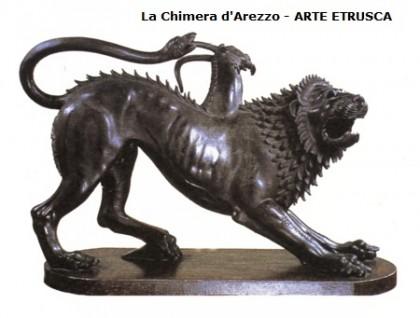 la chimera d'arezzo,il sarcofago degli sposi,arte etrusca,arte,storia dell'arte,scultura,sculture funebri etrusche