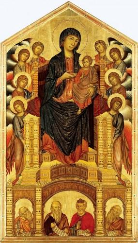 cimabue, maestà madonna di santa trinità, arte gotica, pittura gotica, arte,