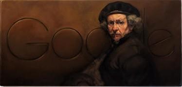 rembrandt van rijn,pittura,curiosità d'arte,arte,anniversario nascita di rembrandt,doodle di google