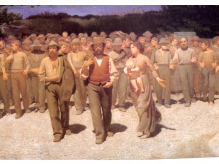 Giuseppe Pellizza da Volpedo Il quarto stato del 1896-1901 Divisionismo.JPG