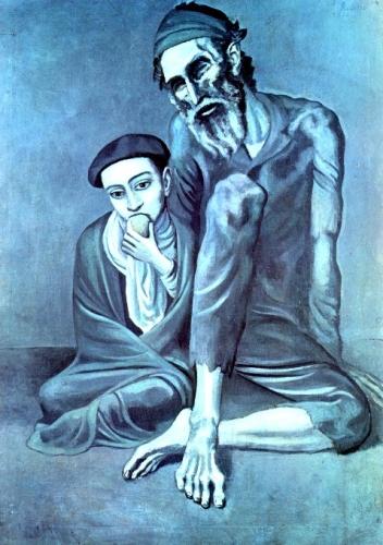 Pablo Picasso Vecchio cieco e ragazzo.jpg