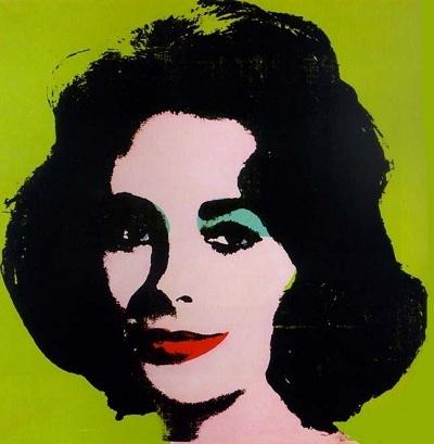 Andy Warhol e Liz Taylor sfondo verde.jpg