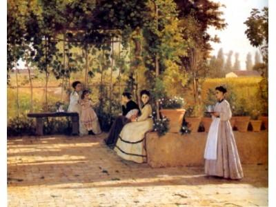 Silvestro Lega Il pergolato 1866 Macchiaioli.JPG