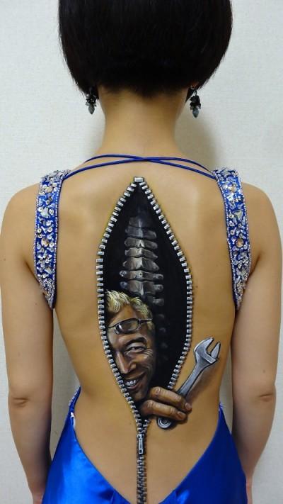 chooo san,body art,pittura,curiosità d'arte