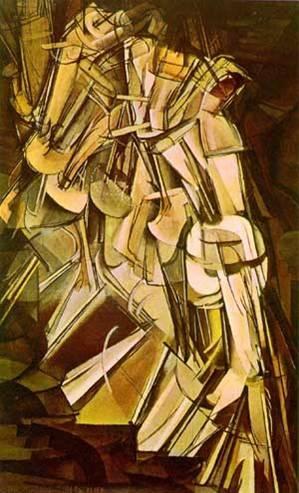 Duchamp Nudo che scende le scale per movimento.jpg