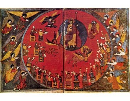 Miniatura libro dell' Apocalisse 1050 circa Parigi Biblioteca Nazionale.JPG