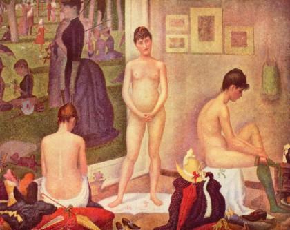 georges seurat, le modelle, studi sulle modelle, puntinismo, pittura dell'ottocento, tecniche artistiche, pittura, opere d' arte