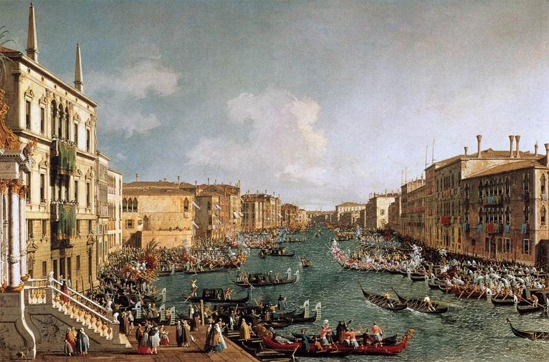 regata sul canal grande del canaletto un capolavoro dell