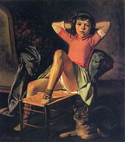 balthus,ragazza con gatto,arte,pittura,pittura del novecento,opere d'arte